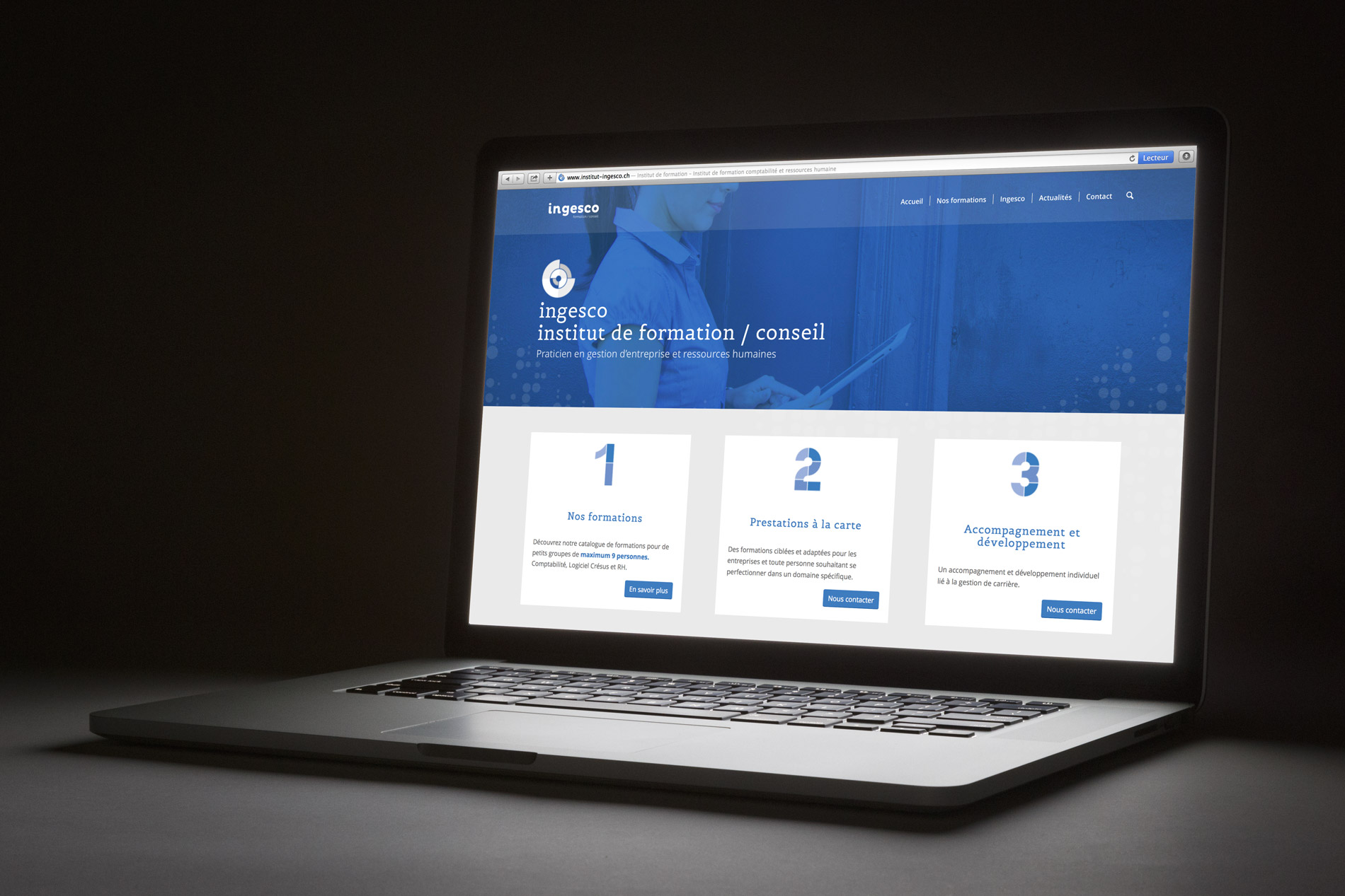 Création d'un site internet et de la communication visuelle pour l'institut Ingesco